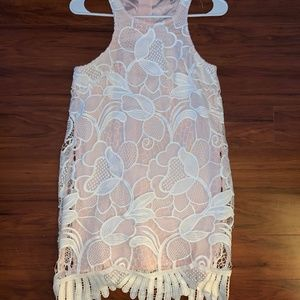 Lovers and Friends Pink/White Dress Size Small